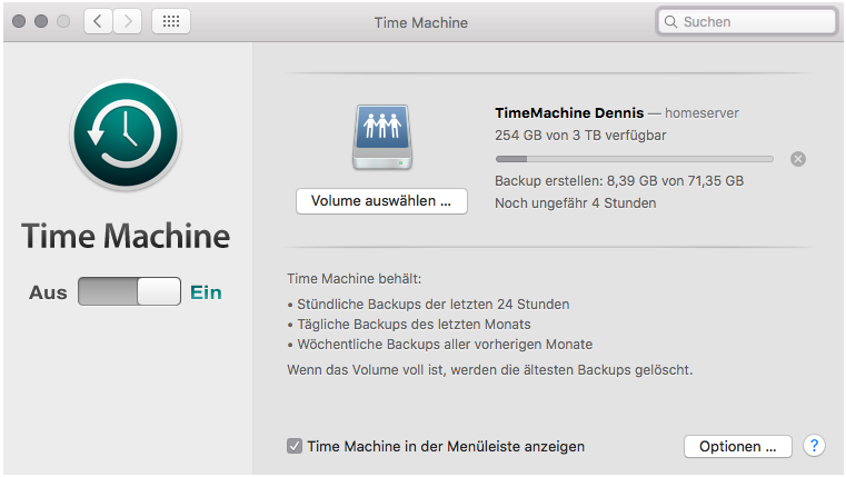 Linux server as Apple Time Capsule